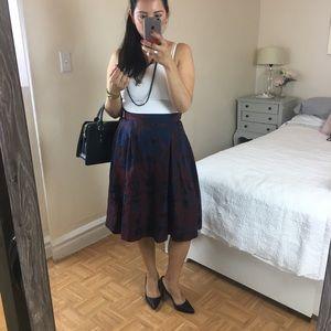 Pleated purple and blue skirt